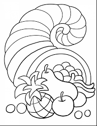 Surprising Thanksgiving Cornucopia Coloring Pages Printables With For Kindergarten And
