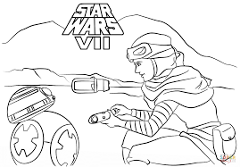 Click The Rey And BB 8 Coloring Pages To View Printable
