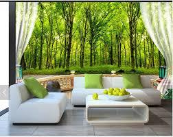 kundenspezifische 3d fototapete 3d wandbild tapete tv einstellung grünen wald landschaft tapeten 3d wohnzimmer tapete