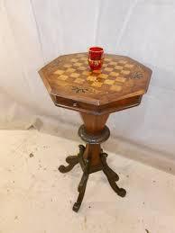Furniture Antique Walnut Work Engaging Side Tables Village ...