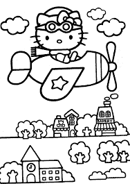 Mermaid Hello Kitty Coloring Pages New