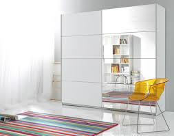 schwebetürenschrank kleiderschrank schlafzimmerschrank schrank mit spiegel 200cm weiß