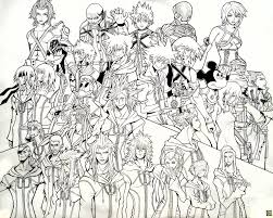 Kingdom Hearts Coloring Pages Online
