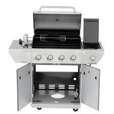 Nexgrill 4 Burner Gas Grill w Sear Side Burner & Rotisserie Kit