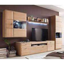 wohnwand wohnzimmer set tijuana 05 tv möbel aus massiver eiche bianco