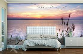 romatischer sonnenuntergang fototapete für schlafzimmer