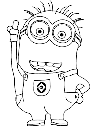 Despicable Me Coloring Pages Minions Kevin