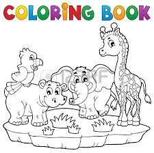 Coloring Book African Fauna 2 Vector