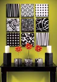 Artistic Abstract Squares Wall Art Black And White Styrofoam Cork DIY