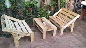 Pallet Lawn Furniture Wooden Patio Set Outdoor For Sale