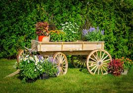 14 Rustic Garden Wagon Ideas For A Country Shutterstock 156891236