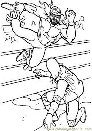 Background Coloring Free Wrestling Pages On Printable 602