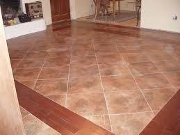 tile inlay in wood floor gallery tile flooring design ideas