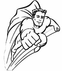Coloring Book Pages Superhero Best Super Hero