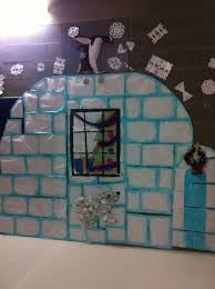 Winter Themed Classroom Door Decorations by Igloo So Not English Christmas But Cute Anyway Classroom
