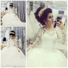 vintage royal style wedding dresses lace long sleeves ball gowns