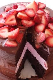 Chocolate Covered Strawberry Ice Cream Cake Recipe