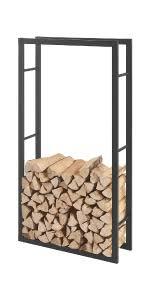 en casa kaminholzregal 40x150x25cm brennholzregal