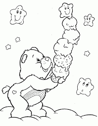 Printable Care Bear Coloring Pages Free For Kids
