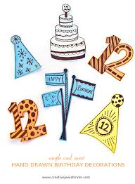 Birthday Decorations Cute And Simple Paper