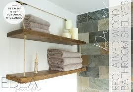 diy reclaimed wood bathroom shelves edea smith