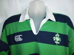 mens irish ireland rugby canterbury crest polo shirt jersey green
