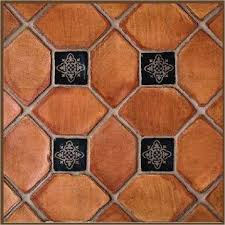 terracotta and grey color scheme porcelain tile that looks like
