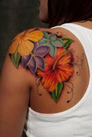 Rainbow Color Hibiscus Tattoo
