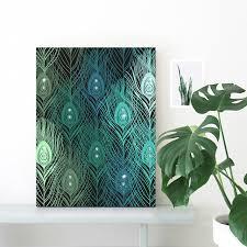 HAOCHU Crystal Canvas Painting DIY Peacock Feather Mural Wall Art Diamond Glitter Beauty Personalize Handmade Home Bedroom Decor