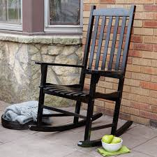 Youth Slat Black Patio Rocking Chair 201SBF RTA The Home Osaki Chair ...