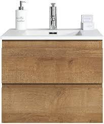 badezimmer badmöbel set angela 60cm f oak unterschrank schrank waschbecken waschtisch