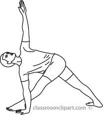 Yoga Black And White Clipart