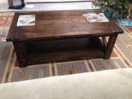 rustic coffee table 4 steps