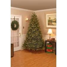Home Accents Holiday 9 Ft Pre Lit Downswept Douglas Fir Artificial Christmas Tree With Clear Lights PEDD1 312 90 At The Depot