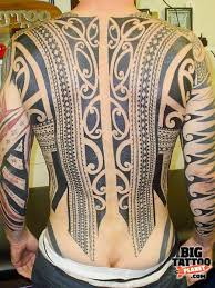 Polynesian Tattoo Back