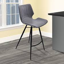 Leatherette/Solid Wood Chair Su Memory Foam Cushion Barstool ...