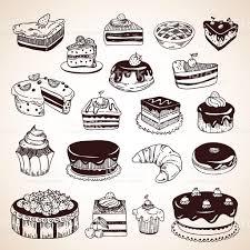 Drawn cake illustration 11