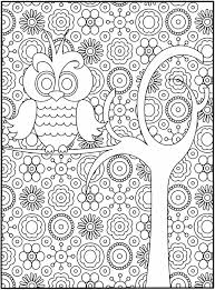 Trends Book Fun Complex Coloring Pages On Free Owl Page