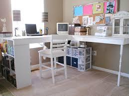 feminine office decor white wall mounted light brown wood floor