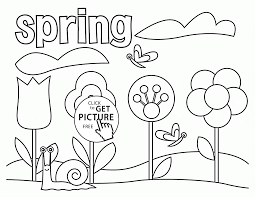 Spring Coloring Page For Kids Seasons Pages Printables Download