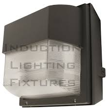 Induction Lamps Vs Led by Iwh80 180 Watt Induction Outdoor Light Fixture Prismatic Square Wall