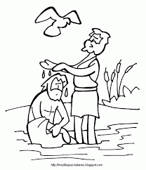 Trendy Ideas Jesus Baptism Coloring Page Pages