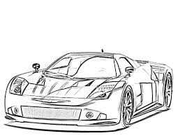 25 Sports Car Coloring Pages For Children 14