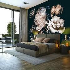 details zu fototapete schwarz blumen vintage wohnzimmer tapete wandtapete 104