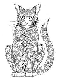 Cat Coloring Page By Miedzykreskami On Etsy More