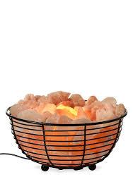 Tahari Home Lamps Crystal by Tula Wellness Himalayan Salt Crystal Lamp In Wide Basket Belk