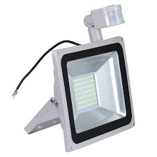 2pcs pir led flood light motion sensor outdoor lighting 100w