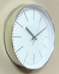 imc wanduhr metall look uhr büro küche wohnzimmer modern großes ziffernblatt weiß gut lesbar quartz xl