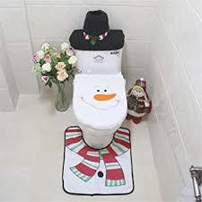 sonstige badezimmer set weihnachtsdeko schneemann toiletten