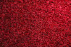 Texture Of A Dark Red Carpet Close Up Gradient Light Royalty Free Stock
